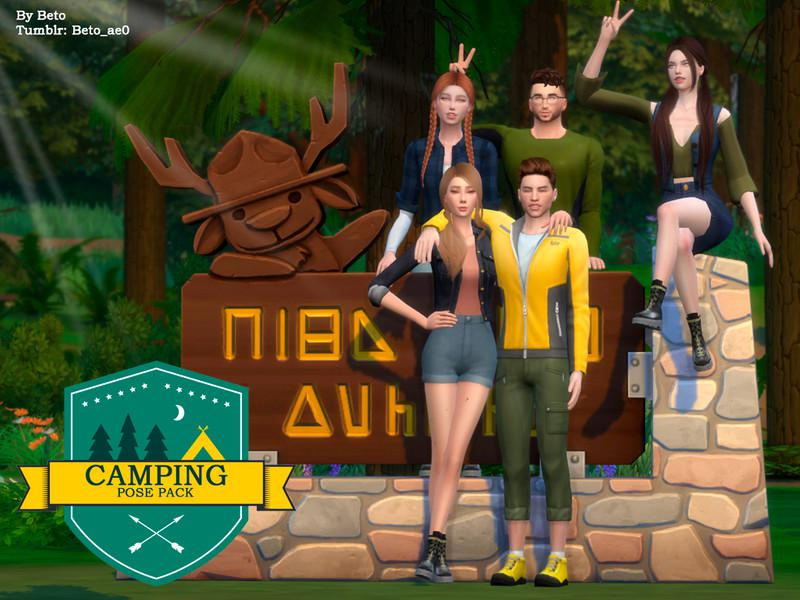 Camping - Paquete Pose